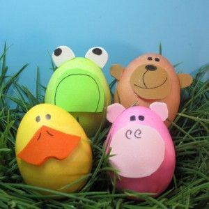 Animal Easter Egg Decorating - Cute!