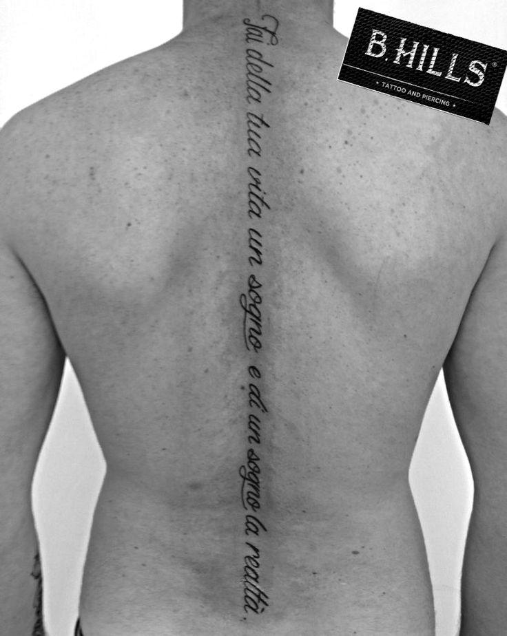 LETTERING TATTOO BACK #LetteringTattoo #Tattoo #Ink #BackTattoo #CalligraphyTattoo #inkart #art #LadyOktopusTattoooArtist #LaraBhills #InkLettering #LetteringquoteTattoo #DreamTattoo #Makeyourlifeadreamandadreamreality #Faidellatuavitaunsognoediunsognolarealta #BhillsTattooCompany #BhillsTattoo #TatuatoriinVeneto #VenetoTattoo #cittadella #cittadellatattoo #piercingcittadella #padovatattoo #tattoolife #tattoomagazine #tattooitalia
