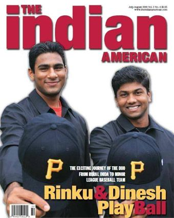 """Rinku Singh and Dinesh Patel: winners of  """"Million Dollar Arm"""" competition in India and consequently first Indian players to be signed by American baseball team"""