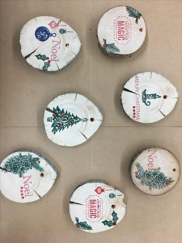Wood cookie ornaments