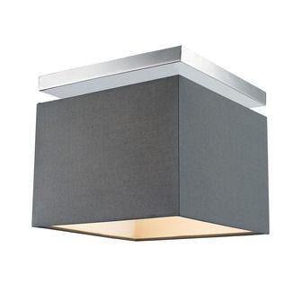Plafondlamp Kubus grijs