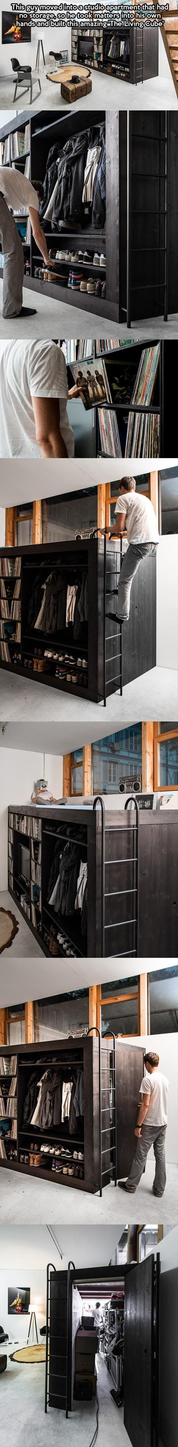 ... , Apartments Ideas, Diy Closet, Studio Apartment, Closet Diy Ideas