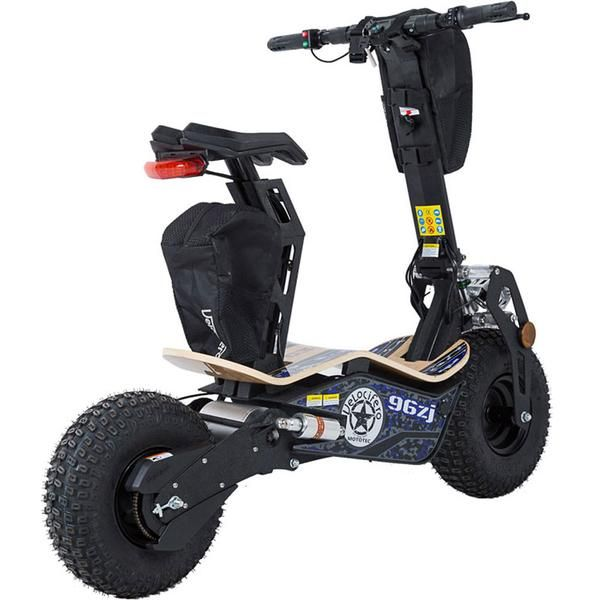 Mad 1600w 48v Electric Scooter, Brake: Front and Rear Disc, Max Torque: 21, Throttle: Twist, Frame: High-tensile steel, Wood Deck, Fintal Transmission Chain.