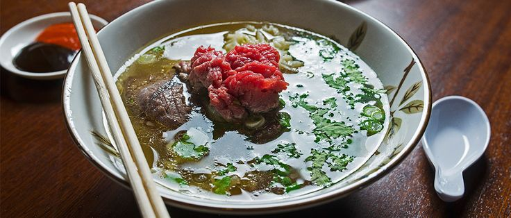 Charles Phan of the famed The Slanted Door restaurant in San Francisco schools us in making pho bo, or beef pho.