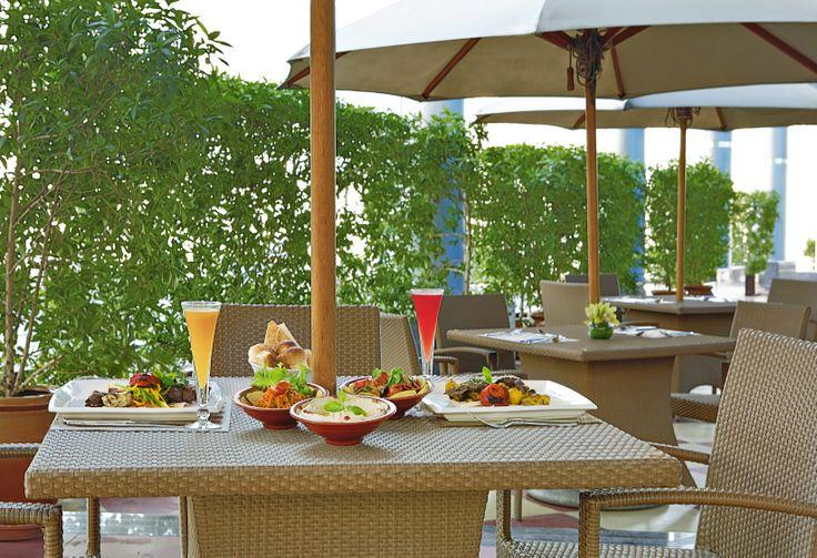 Outdoor terrace of New Season restaurant