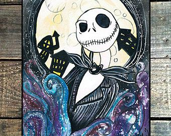 aquarelle The nightmare before Christmas