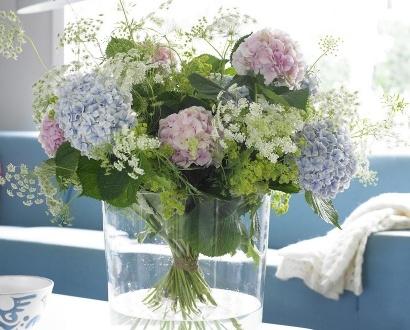 Hortensia boeket M - Hydrangea zomer boeket - Blauwe Hortensia