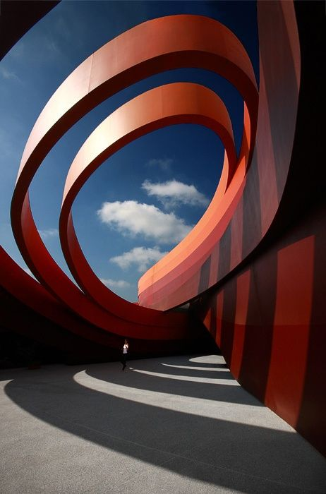 Design Museum Holon | See More Pictures. Wow.  The mathematics of arhitecture.