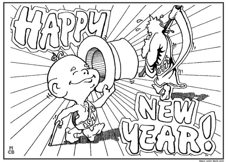 Mejores 40 imágenes de New Year Coloring pages free online en ...