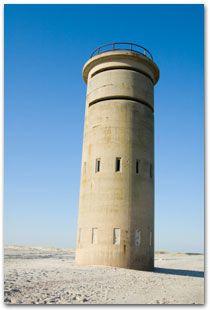 WWII lookout tower - Atlantic coast near Bethany Beach & Dewey Beach, DE...