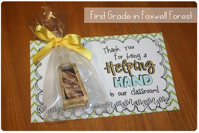 """Great volunteer thank you gift: """"Thank you for being a Helping Hand!"""""""