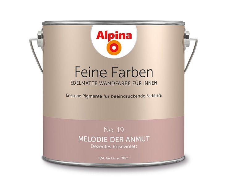 """Alpina Feine Farben """"Melodie der Anmut"""":  Das dezente Rosé-Violett  nutzt den Raum als Bühne für seine charmante feminine Persönlichkeit. Ein Ton der leisen, apart ausdrucksvollen Auftritte."""