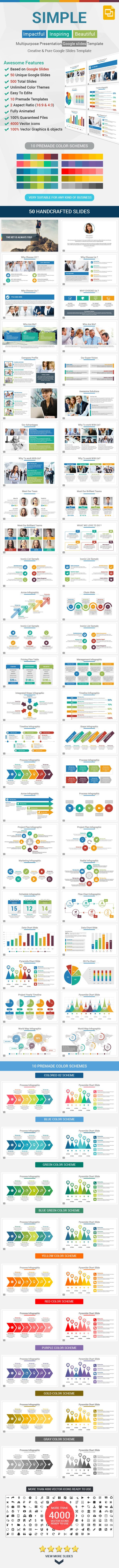 Simple Google Slides Presentation Template #design #slides Download: http://graphicriver.net/item/simple-google-slides-presentation-template/12721274?ref=ksioks