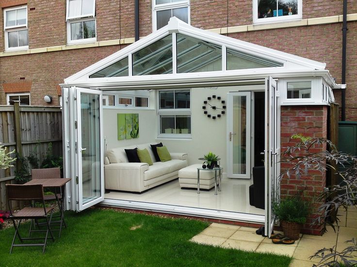 modern conservatory with opening wall