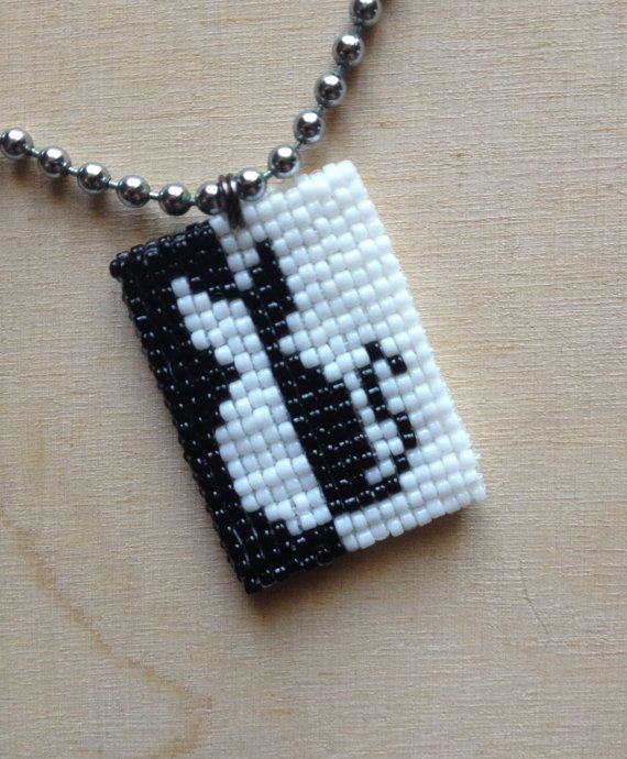 Cat Silhouette Pendant on Ball Chain by GoodBeadDeeds on Etsy