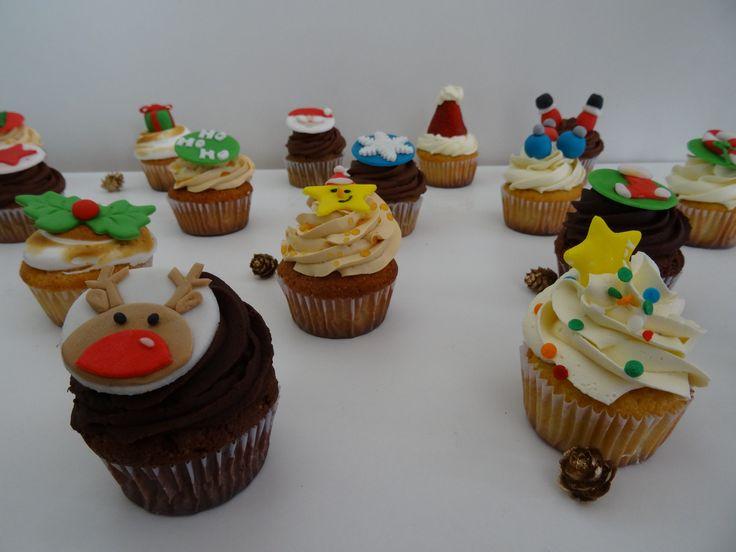Cupcakes con diseños Navideños