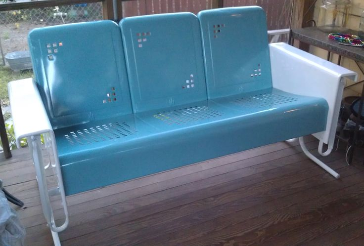 Retro Outdoor Gliders | ... Vintage Metal Furniture | Vintage Patio  Furniture | Mulberry Street | Home | Pinterest | Vintage Patio Furniture,  Vintage Patio ...
