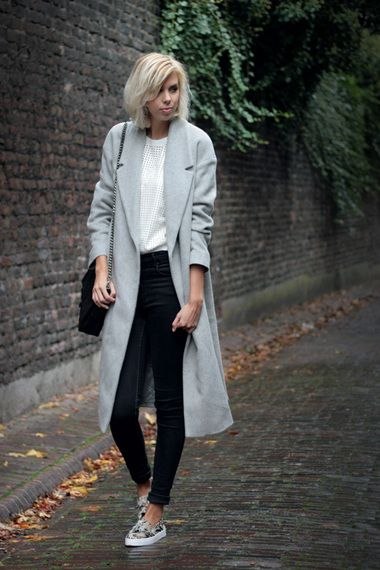 The long grey coat | Women's Look | ASOS Fashion Finder