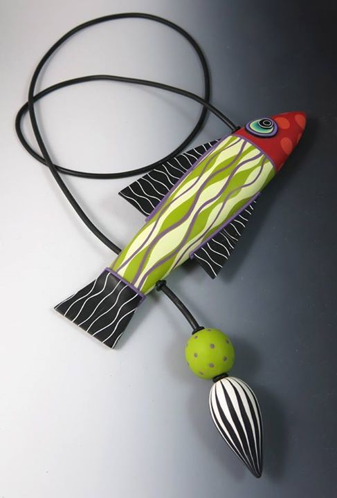 Collier poisson en Fimo - Donna Kato - polymer clay