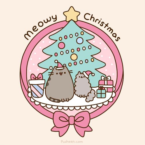 Merry Christmas from Pusheen and Stormy