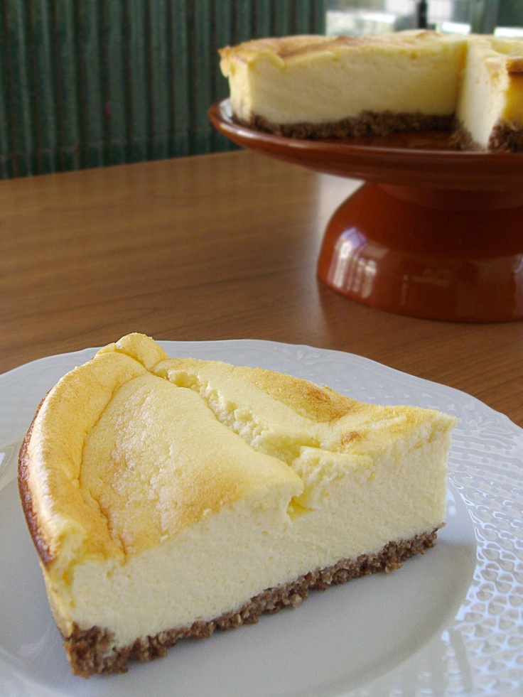 Tarta de queso y limón con galleta al horno, estilo Lemon New York Cheesecake {Receta}
