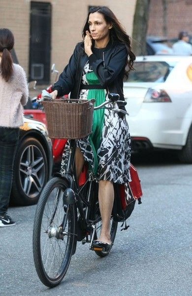 Famke Janssen Photos: Famke Janssen Out For a Bike Ride in NYC