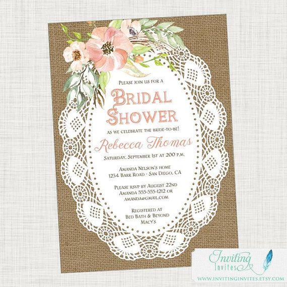 58 best Bridal Shower Invitation images on Pinterest Bachelorette