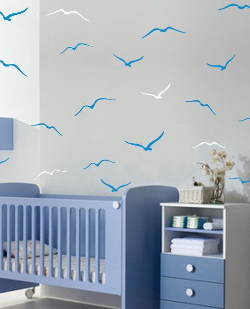 Vinyl Wall Sticker Decal Home  Flock of seagulls by LivingWall