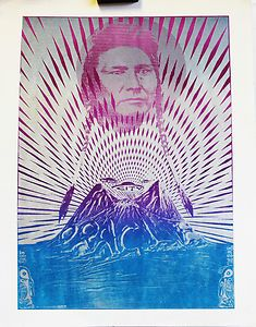 Poster from The Oracle of Chief Joseph with flying saucers, 1967.