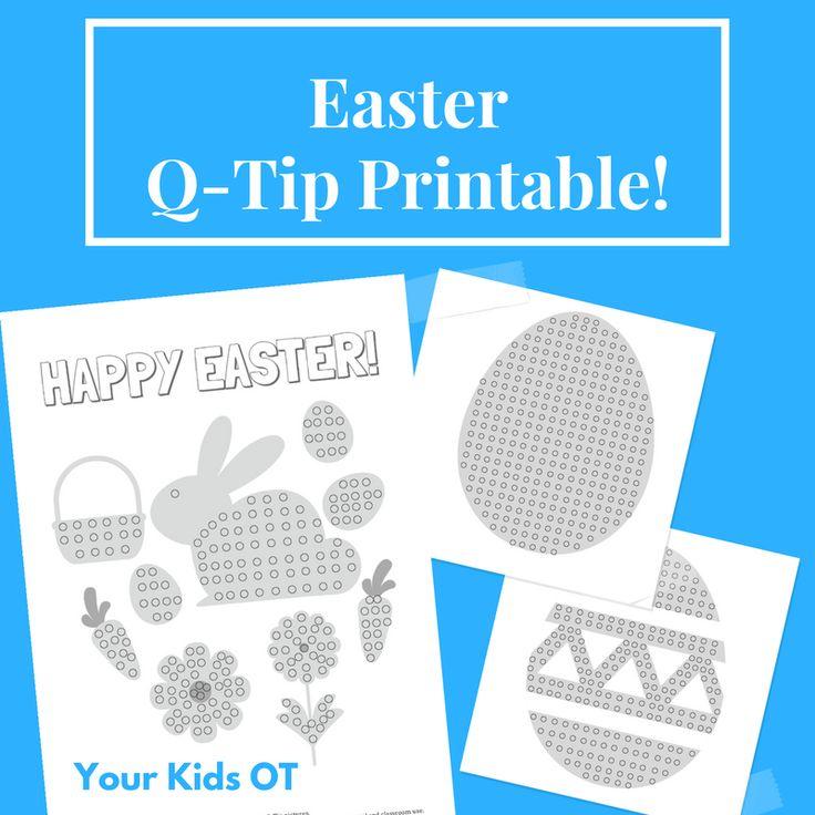 Easter Q-Tip Printables! Your Kids OT