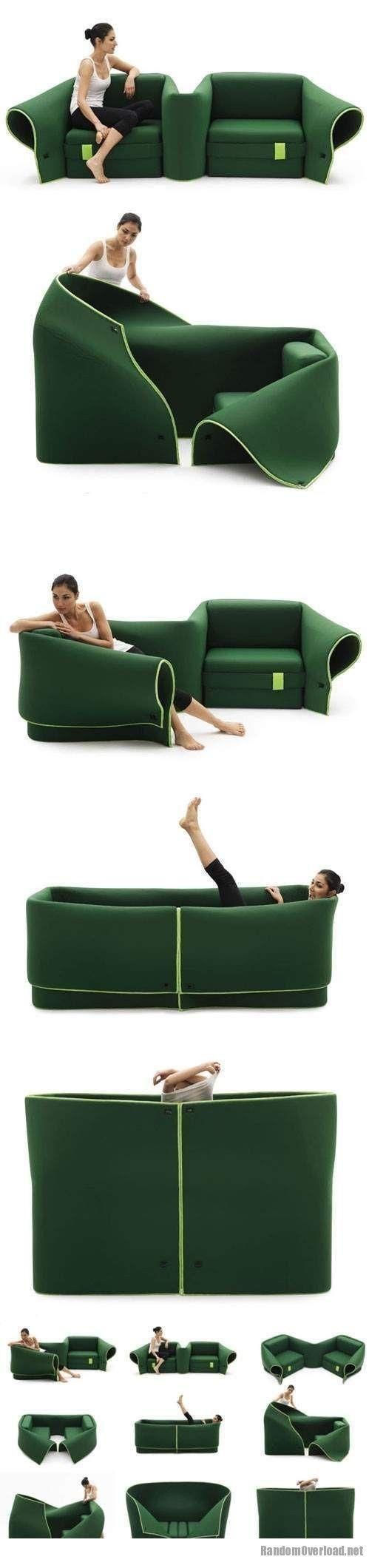 Chaise multi fonction | Canapé vert | Canapé multifonction | Canapé multiformes