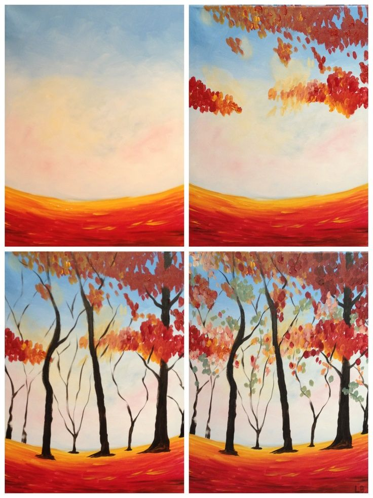 """painting with a twist evolutions   Evolution of """"Colors of Autumn"""" Painted @ Painting with a Twist Miami ..."""