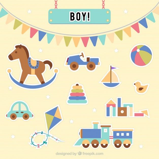 Free vector Baby boy toys #7601