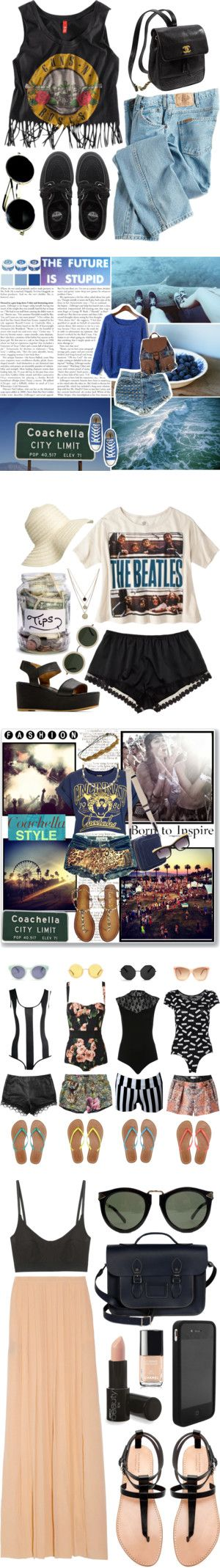 """""""ERMAHGERD Coachella Starts Tomorrow! Here, 6 Outfit Ideas From Members"""" by polyvore-editorial ❤ liked on Polyvore"""