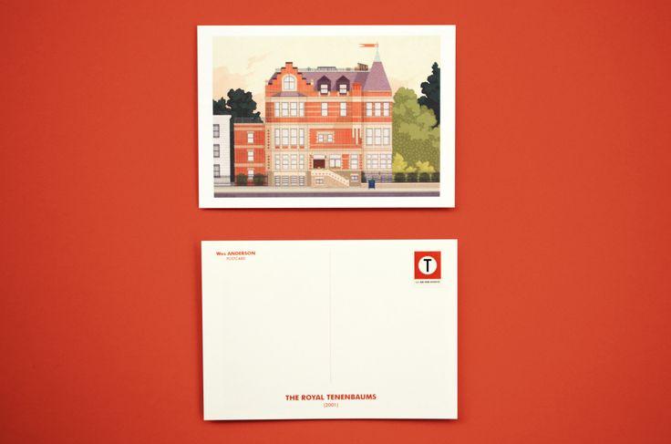 The Royal Tenenbaums Postcard illustration by Mark Dingo