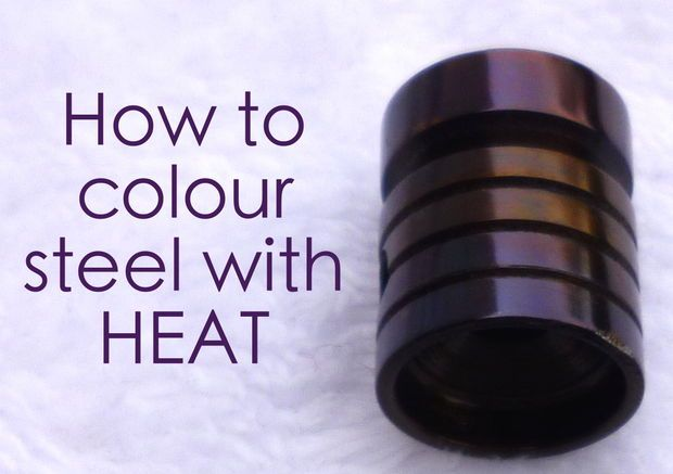 How to colour steel with HEAT. Also a good way to learn colour case hardening.