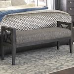 at HOME Music City Thinking About You Bench in Slate