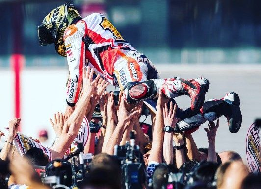 Marquez Mengubur Impian Yamaha di Depan Pendukung Honda
