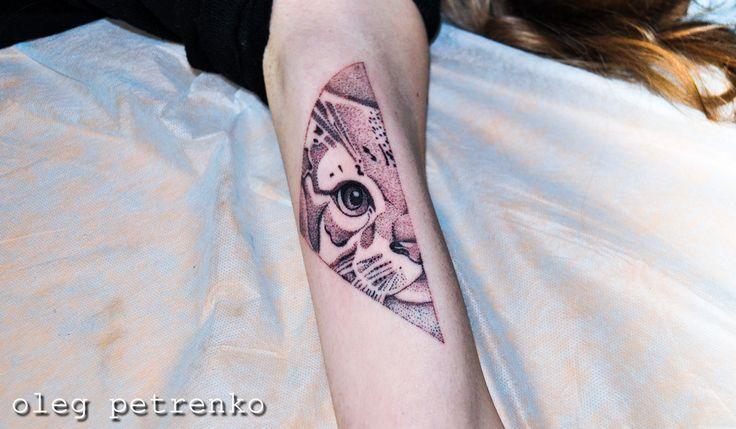 котик дотворк арт татуировка рукав cat dotwork tattooartist tattoo
