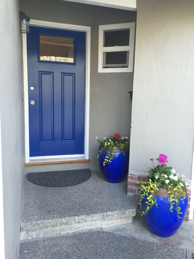 Front Door Color Dignity Blue Sherwin Williams Front