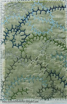meandering feather stitch