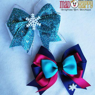Frozen bows - elsa & anna sisters combo set