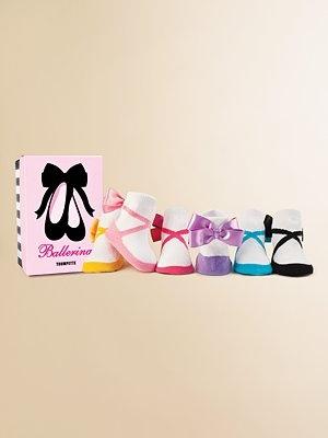 Trumpette Ballerina Socks with Satin Bow