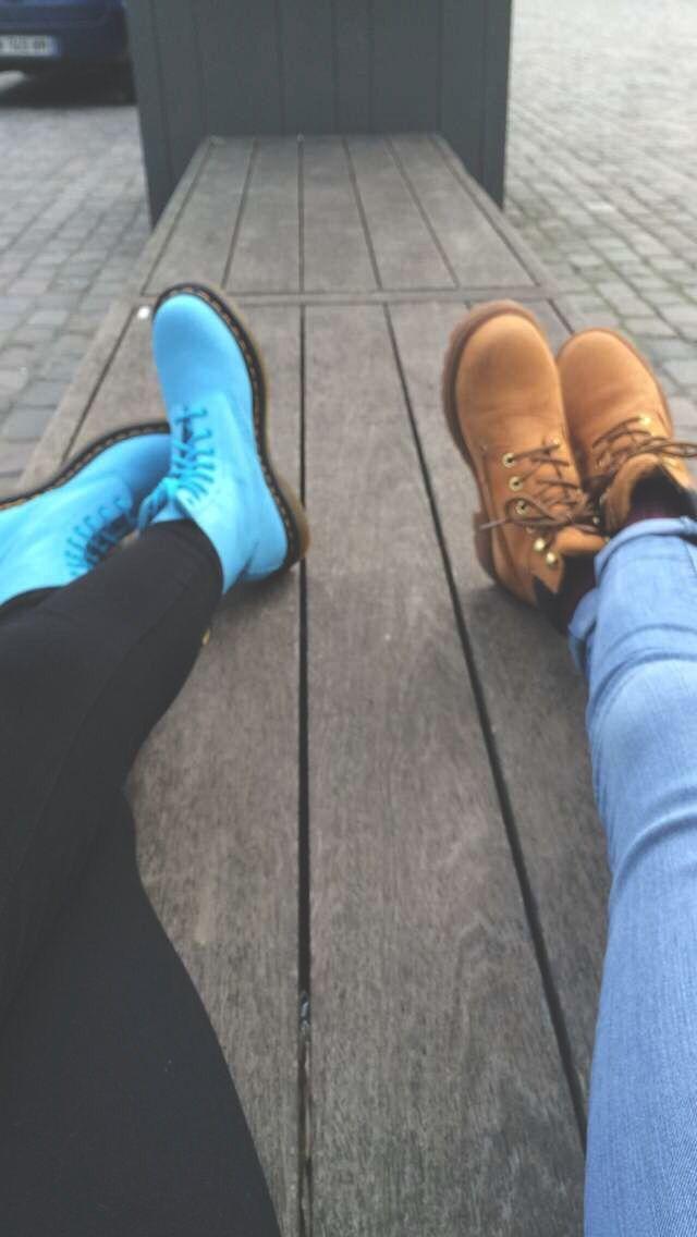#doc #martens #docmartens #timberland #bleue #pastel #marron