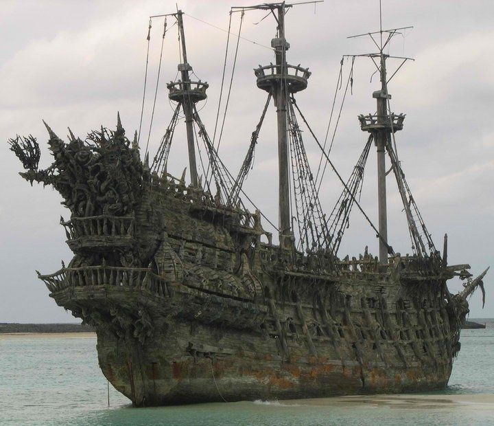 abandoned ghost ship