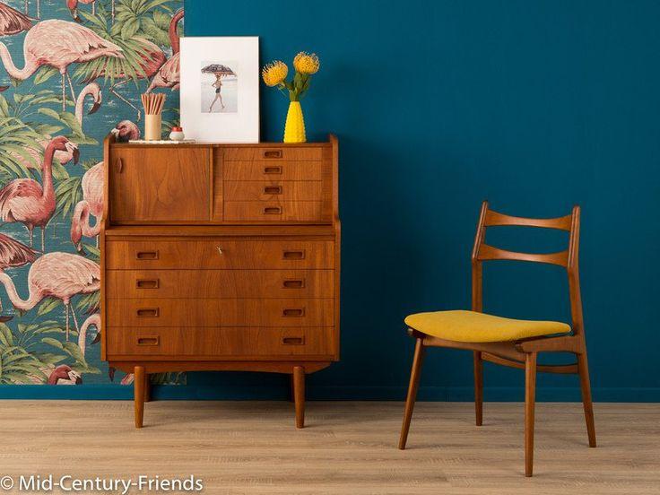 TEAK Sekretär, Made In Denmark, 60er, Vintage