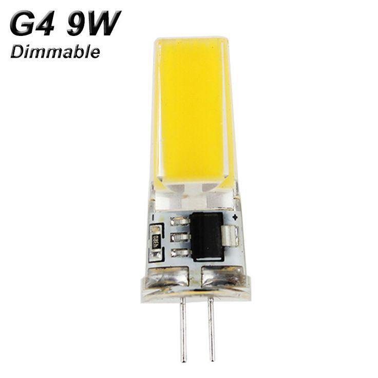 Dimmable E14 G9 G4 LED Lamp 220V 9W 6W AC DC 12V COB Bombillas LED Bulb Lampada LED G4 G9 COB Lights Replace Halogen G4 G9