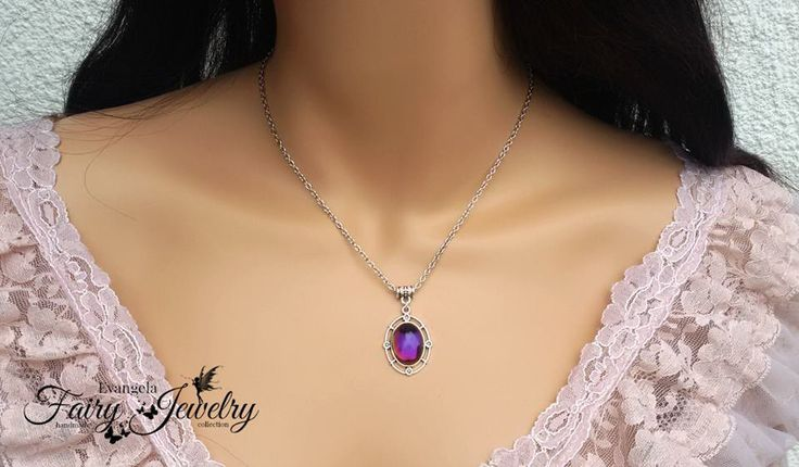Collana cammeo Magic riflessi catena in acciaio inossidabile, by Evangela Fairy Jewelry, 13,00 € su misshobby.com