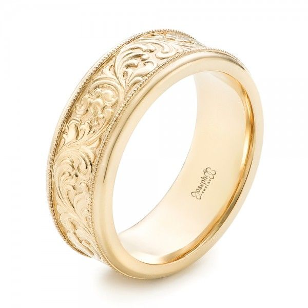 Custom Hand Engraved Mens Wedding Band JosephJewelry