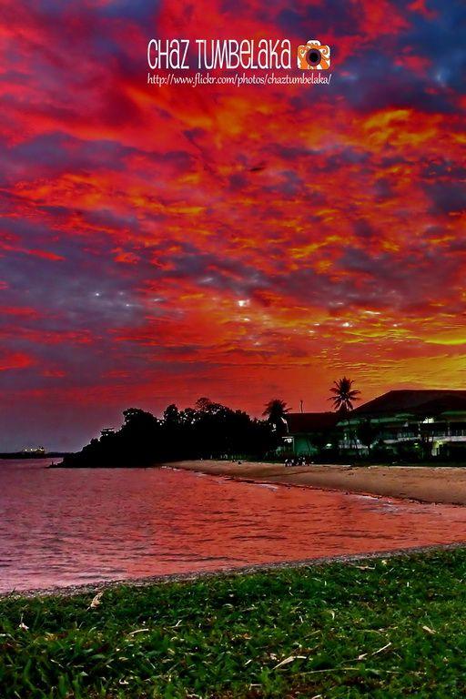 Dramatic Sunset in Balikpapan - Banua Patra Beach